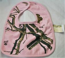PINK MOSSY OAK CAMO BABY BIB - CAMOUFLAGE, INFANT GIFTS