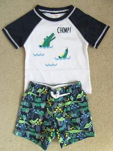 251171c776 NWT Gymboree Boys Navy Gator Rashguard/Gator Trunks Swimsuit Set 12 ...