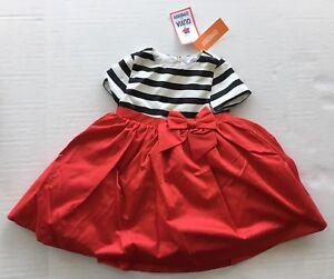 e5921a3e5eb NWT Olivia for Gymboree 3 3T Red Black   White Striped Party Dress ...