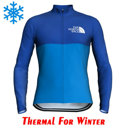 Mens Cycling Jersey Jacket Thermal Bike MTB Tight Jacket Team Top Winter Fleece