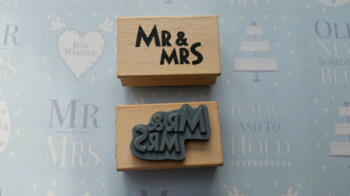 Rubber Stamp Craft Wedding Card Invite Cwtch Mr /& Mrs Save The Date Just Married