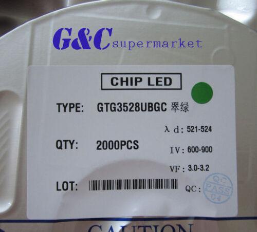 Smd Smt 3528 Super Verde Brillante Lámpara Led Bulbo De Buena Calidad 200 un