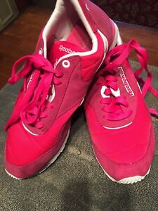 Womens Reebok Classic Hot Pink/ Suede