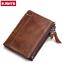 Men-Women-Genuine-Leather-Cowhide-Bifold-Wallet-Holder-Credit-Card-Retro-Purse miniature 1