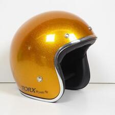 Casque bol jet Torx Wyatt jaune brillant Taille M moto scooter cyclo mob custom
