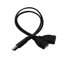USB 2.0 A Stecker Auf 2 Dual Buchse Y Splitter Nabe Stromkabel Adapter Kabel NEU