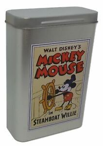 Mickey Mouse in Steamboat Willie Tin Box Walt Disney De Agostini