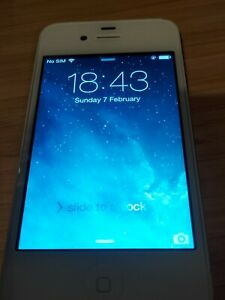 Apple iPhone 4 (A1332) 3 G-Smartphone-Blanc-EE - Excellent