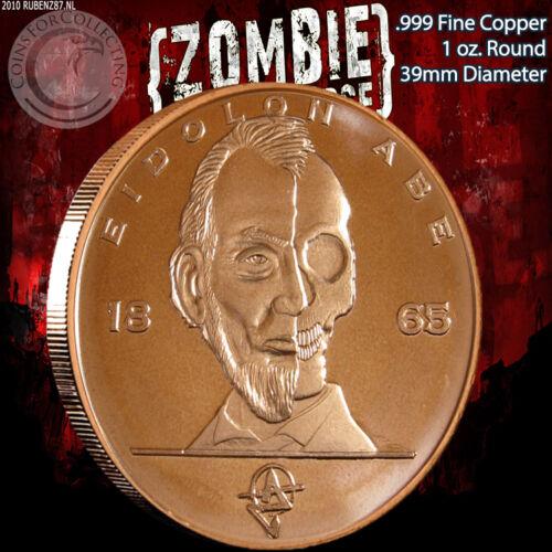 "/""Eidolon Abe/"" 1 oz .999 Copper Round Part of the ApocalypeZe Series Limited /& Ra"