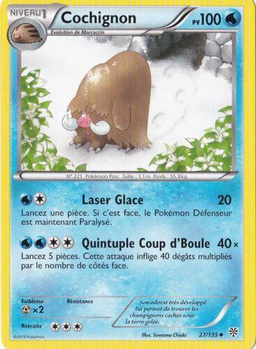 Cochignon N/&B:Tempête Plasma-27//135-Carte Pokemon Neuve Française