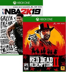 Red Dead Redemption 2 +NBA 2K19 (Download Card)- Xbox One NEW