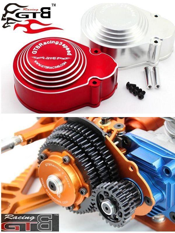 Gtb racing 3 speed getriebe + ausrstung deckung fr hpi baja 5b rovan km 1   5