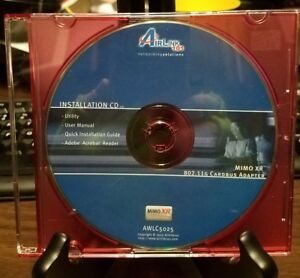 Pre-owned-Airlink-101-Wireless-CardBus-Adaper-MIMO-XR-802-11G-CD-ROM
