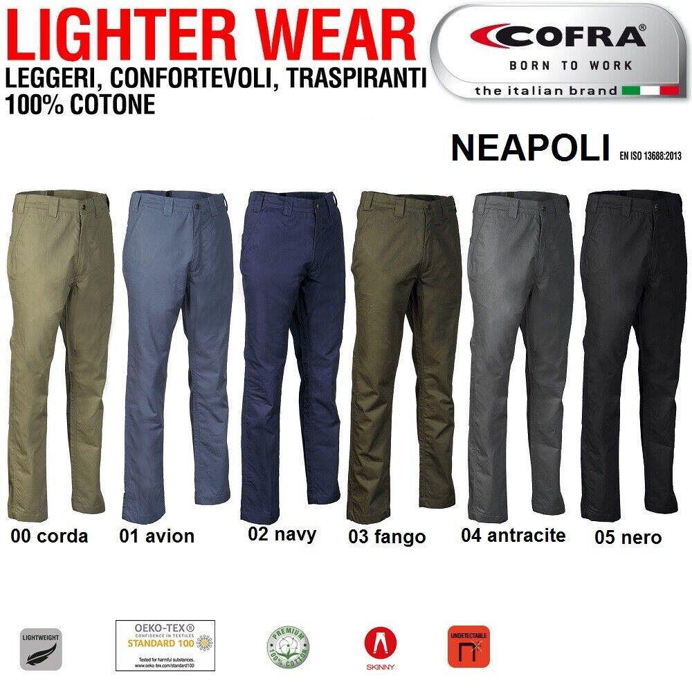 Immagine 01 - Pantaloni da lavoro COFRA modello NEAPOLI edilizia industria logist 100% cotone