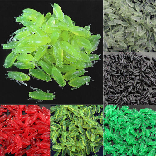 10//50//100 Pcs Worm Baits Grasshopper Lures Soft Rubber Bugs Floating Lures new.