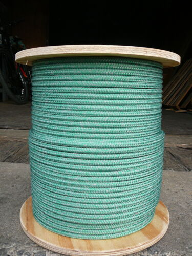"""Super Low Stretch Spectra Sailboat Rigging Rope Line 5//16/"""" x 100/' Green//Silver"""