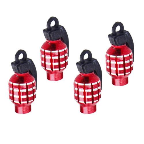 4 x chapeaux rouges d/'air de style de grenade en aluminium garniture de
