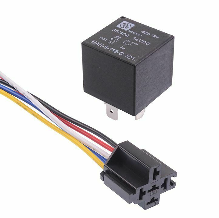 12V Automotive Changeover Relay W/Diode 40A 5-Pin SPDT with Socket