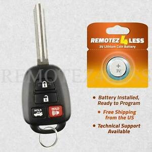 Details about For 2015 2016 2017 Toyota Camry Corolla Keyless Entry Remote  Key HYQ12BEL H CHIP
