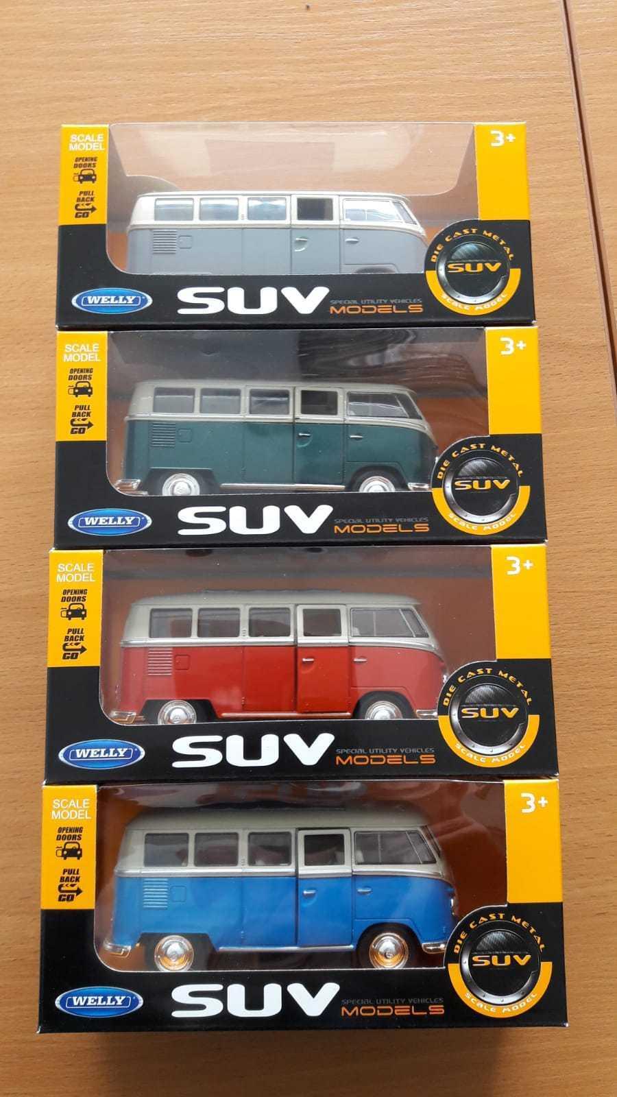 Special Set of 4 Welly Volkswagen Volkswagen Volkswagen Retro Hippie VAN BUSES T1 1962 1 31 a6a2e8