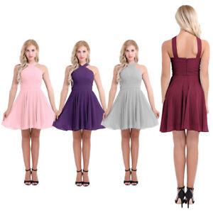 Women-Ladies-Chiffon-Short-Dress-Prom-Evening-Party-Cocktail-Bridesmaid-Wedding