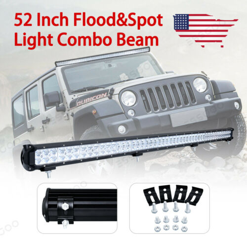 Dual Row 300W LED Light Bar 52 inch For Chevrolet Ford Jeep Fog//Driving Lamp