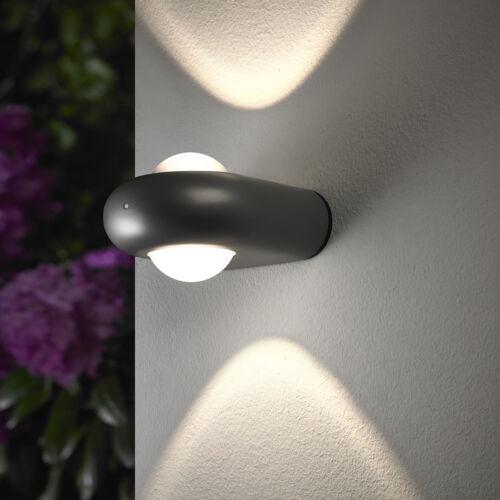 DEL Lampe murale Luminaire extérieur mur façades Projecteur Murale éclairage alu anthracite 133-1