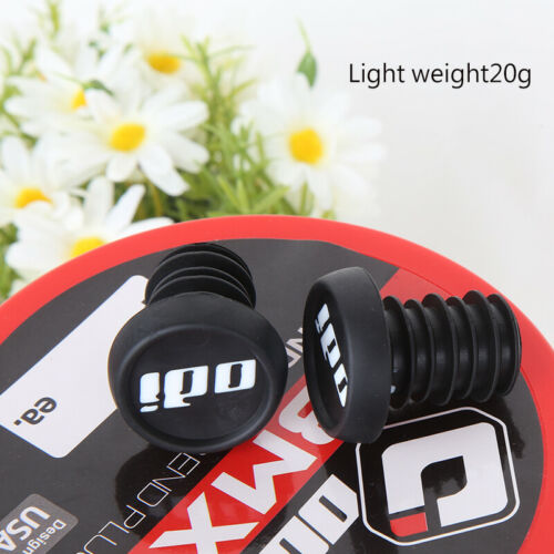 ODI Push-In Bike Handlebar End Plugs Caps fits Flanged Flangeless Grips 1-Pair