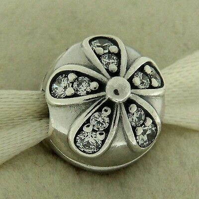 Jewelry & Watches Charms & Charm Bracelets Authentic Pandora 791493cz Dazzling Daisies Cz Clip Sterling Silver Bead Charm Meticulous Dyeing Processes