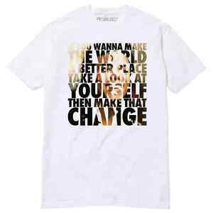 Man In The Mirror Michael Jackson T-Shirt Thriller Black and White ... acd3ae7b4a0f