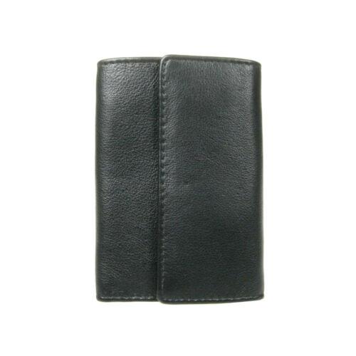 Men Women Black Brown Luxury Leather Key Case Holder Credit Card Wallet  0121