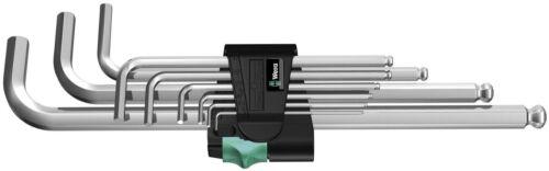 WERA TOOLS 9 Piece 1.5mm  10mm Hex Allen Key Set Extra XL Long + Storage Holder