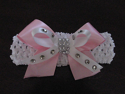 Baby / Girls Crochet Romany Bling Headband.