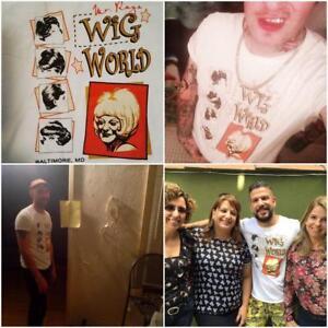 Original-Mr-Ray-039-s-Wig-World-Divine-Parody-Satire-t-shirt-Baltimore-Salon-Drag