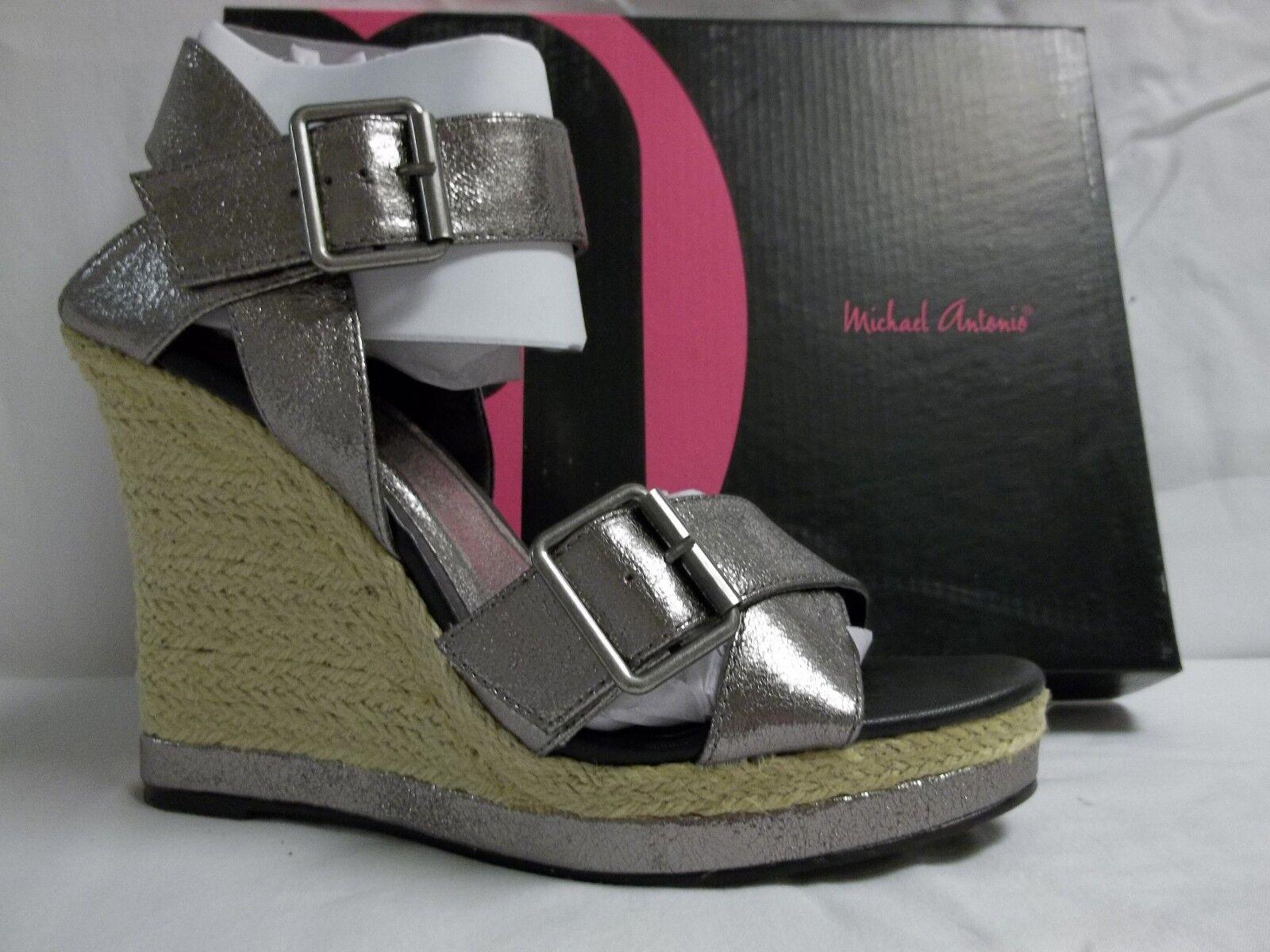 Michael Antonio Größe 9 M Gladwinn Pewter Metallic Wedges NEU Damenschuhe Schuhes