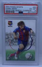 2004 Panini Megacracks Barca Campeon Lionel Messi RC Rookie #62 PSA 6