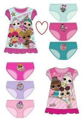 Amichevole Lol Camicia Da Notte Pantaloni Mutandine Ragazze Bambini Biancheria Il Consumo Regolare Di Tè Migliora La Salute
