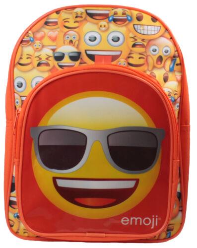 Boys Emoji Backpack with Front Pocket Orange Back to School 7 Litres