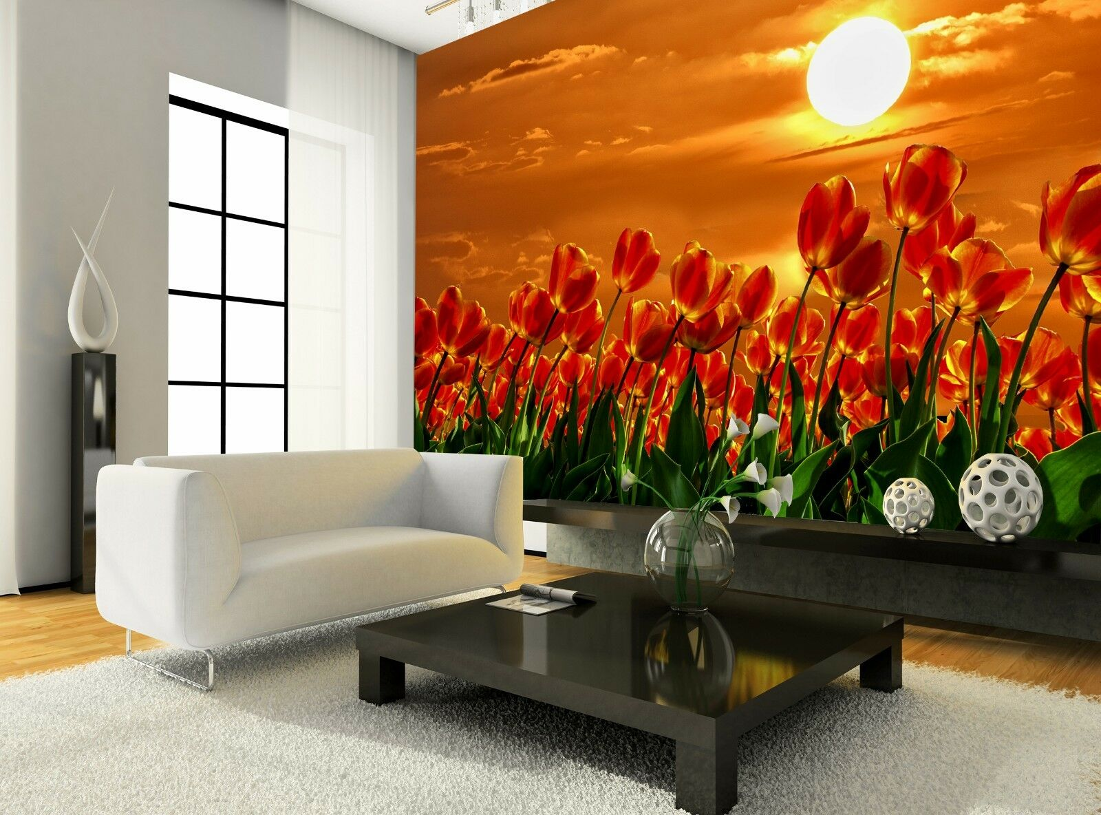 rosso rosso rosso Tulips  Wall Mural Photo Wallpaper GIANT DECOR Paper Poster Free Paste 730f4e