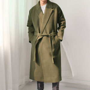 Mohair Oversized Long Balmacaan Coat