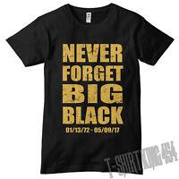 Never Forget Big Black, Christopher Boykin Rip T-shirt Rob & Big, Dyrdek Mtv, Dc