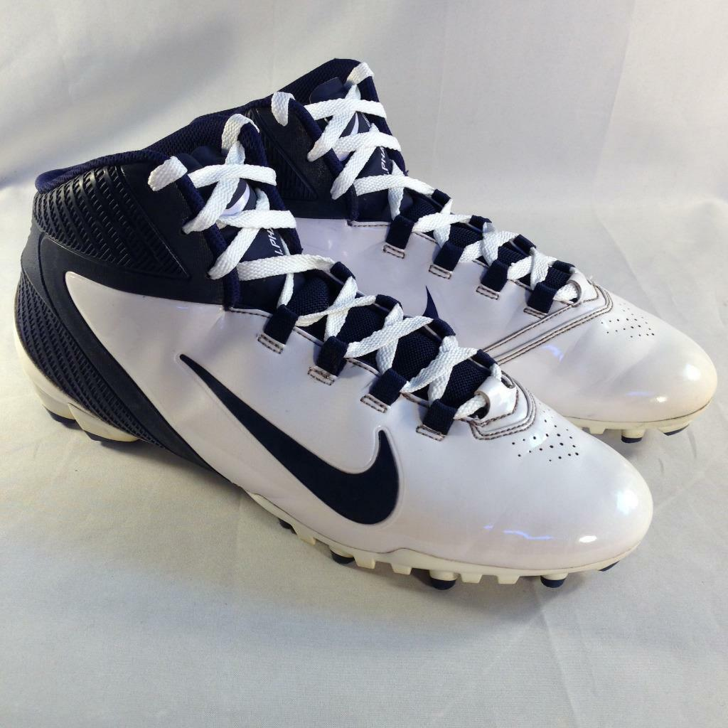 Nike Men's Alpha Speed TD Football  Cleats White Navy 442244 141 Sz 12.5  #B144  Brand discount