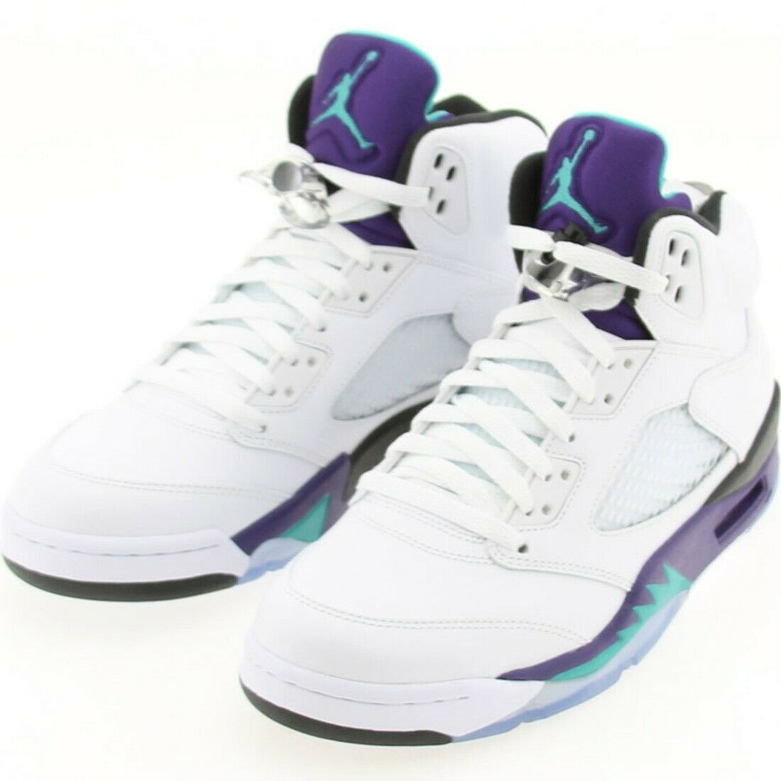 ca6cced9731 US sz AIR JORDAN 5 V RETRO 2013 EMERALD ICE BLK 136027-108 SIZE 8.0 ...