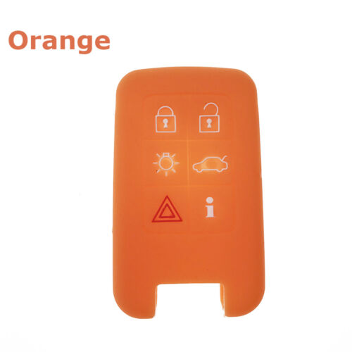 6 Buttons Silicone Remote Key Fob Shell Cover For Volvo XC60 V60 S60 XC70 V40