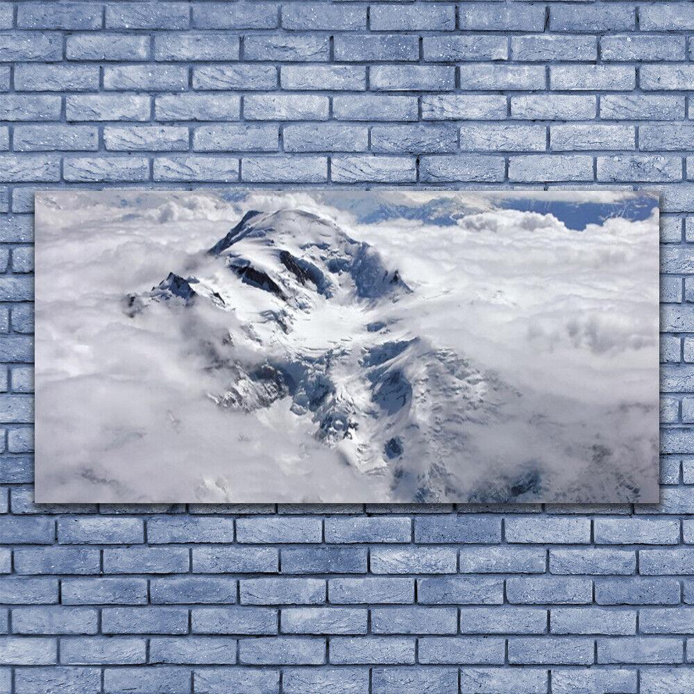 Leinwand-Bilder Wandbild Leinwandbild 140x70 Gebirge Nebel Landschaft