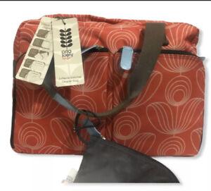 Orla-Kiely-for-Target-Orange-Geometric-Floral-Weekend-Travel-Gym-Diaper-Bag