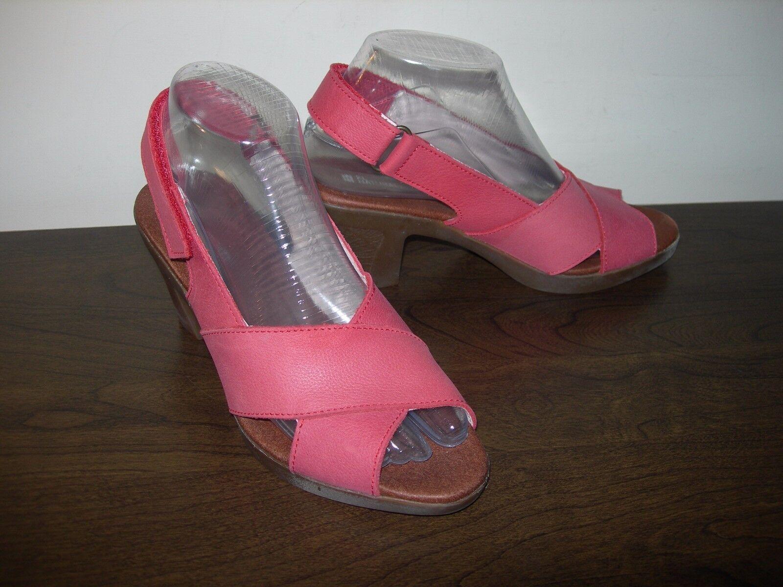 EL NATURALISTA WOMEN'S Schuhe SANDALS SLINGBACKS PALE ROT LEATHER EU 37 / UK 4