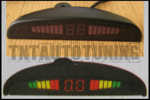 Radar de Recul Voiture Stationnement 4 Capteurs Blanc Afficheur LED Buzzer New