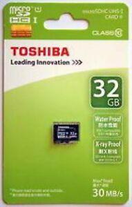 Brand-New-Toshiba-32GB-Micro-SD-SDHC-30-MB-s-Class-10-Flash-TF-Card-Memory-Card