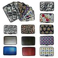 Aluminum Wallet business Card Credit Card Holder Case  With RFID Protection
